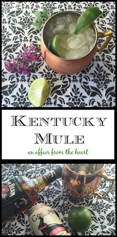 Kentucky Mule - A twist on the classic, Moscow Mule, this Kentucky Mule is made with Kentucky Bourbon, ginger beer and lime.  It's crisp, refreshing and perfect for warm summer evenings. from an affair from the heart