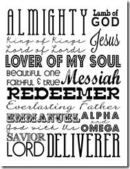 Easter Subway Art, Resurrection Sunday, Names of Jesus Printable, Free Printables