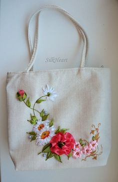 Wonderful Ribbon Embroidery Flowers by Hand Ideas. Enchanting Ribbon Embroidery Flowers by Hand Ideas. Embroidery Designs, Ribbon Embroidery Tutorial, Embroidery Bags, Learn Embroidery, Silk Ribbon Embroidery, Hand Embroidery Patterns, Embroidery Stitches, Embroidery Supplies, Eyebrow Embroidery