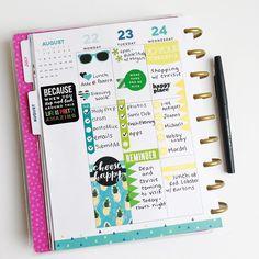 "Katie B. | Planners + Crafts (@katietheplanner) on Instagram: ""The first half of my rainbow week makes me so happy!"" Happy Planner"
