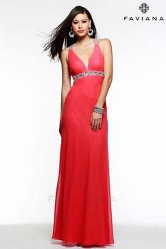 Open Back Faviana Dress 6120