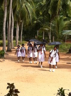 The Orphanage Girls walking home from school...