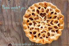 maple apple pie with roasted apples | Janice Lawandi @ kitchen heals soul