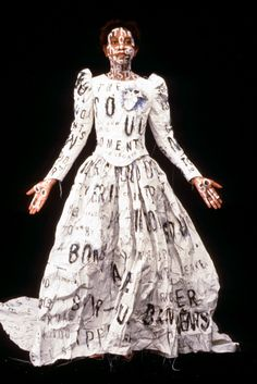 LESLEY DILL : DADA POEM WEDDING DRESS