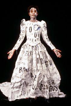 LESLEY DILL : DADA POEM WEDDING DRESS