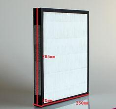 Air purifier parts F-PXJ30C/PDJ30C/30C3PD air purifier parts hepa filter 285X250X30mm