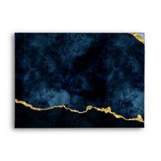 Shop Navy Blue & Gold Foil Gilded Agate Marble Wedding Envelope created by GraphicBrat. Visiting Card Design, Flower Background Wallpaper, Blue Gold, Navy Blue, Wedding Envelopes, Blue Painting, Gold Marble, Diy Canvas Art, Gold Foil