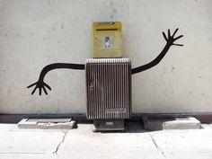 Quand La Poste danse ! / Street art.