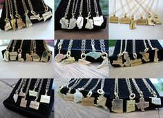 Items similar to Military Jewelry Long Distance Relationship Going Away Necklace Military Necklace Army Wife Navy wife Military State Necklace Silver or Gold on Etsy State Jewelry, State Necklace, Initial Necklace, Arizona Necklace, Bff Necklaces, Friendship Necklaces, Silver Necklaces, Military Jewelry, Military Gifts