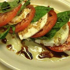 Caprese Salad :Fresh mozzarella, tomato & basil in a balsamic drizzle ...