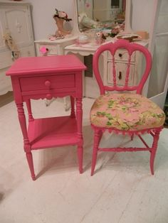 Pink Paint Makes It All Better. By Diane.smith Refurbished Furniture, Paint  Furniture