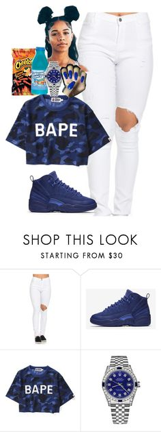 """""""and i'm quick 2✂✂cut a n i g g a off so don't get comfortable"""" by itsbabya1 ❤ liked on Polyvore featuring NIKE and Rolex"""