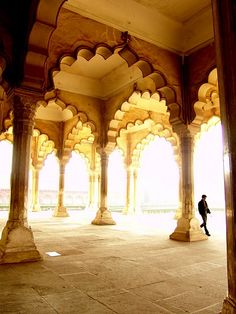 Love these beautiful arches at Lahore Fort, Pakistan