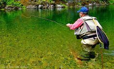 Full-day Coeur d'Alene River Fishing trip. The perfect fly-fishing destination, the river is home to an abundant population of native cutthroat and rainbow trout. rowadventurecenter.com  #Idaho #Coeur #d'Alene #fly #fishing #river