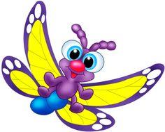 "Photo from album ""Рисованные бабочки"" on Yandex. Cartoon Butterfly, Butterfly Clip Art, Butterfly Images, Cute Butterfly, Butterfly Crafts, Bee Clipart, Bee Wings, Rag Quilt Patterns, Cartoon Eyes"