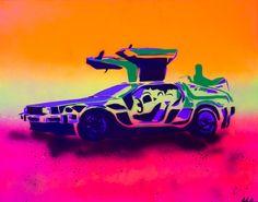 Back to the Future time machine by JohnBVisualDesign on Etsy  #backtothefuture #blacklight  #martymcfly