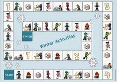 "Ideenreise: Spielfeld ""Winter Activities"" Ways Of Learning, Kids Learning, Winter Activities, Preschool Activities, Start Of Winter, English Worksheets For Kids, German Language Learning, Teaching Career, Classroom Language"