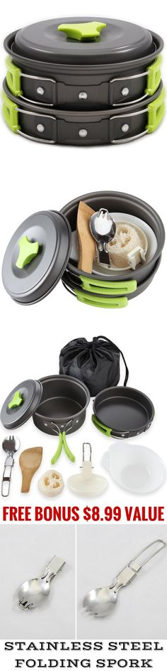 Camping Cookware 87141: Camping Cookware Mess Kit Backpacking Gear And Hiking Outdoors Bug Out Bag Cooking -> BUY IT NOW ONLY: $30.27 on eBay!