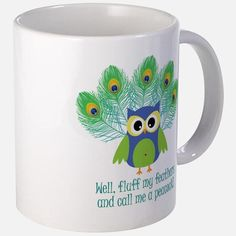 Fluff My Feathers Large Mugs for