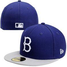 New Era Brooklyn Dodgers Two-Tone 59FIFTY Fitted Hat – Royal Blue Gray Go da5c53c20f4f