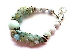 Aquamarine Bracelet Light Blue Jewelry Blue Wedding Natural