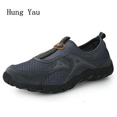 Outdoor Shoes men shoes casual climbing shoes 2017 summer style fashion mesh trekking shoes slip on walking Breathable quick dry #Affiliate