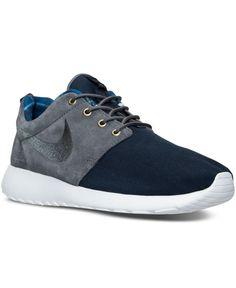 dcb58bb22f9 Nike Men s Roshe Run Casual Sneakers from Finish Line - Blue 12 ...