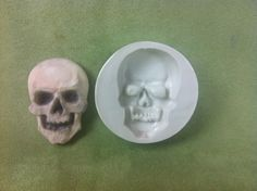 Skeleton Skull Silicone Mold for fondant, gumpaste, chocolate, decogel, isomalt, and butter by Susan Carberry Item # 167