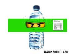 Ninjago Water Bottle Label. $5.00, via Etsy.