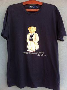 Vintage Polo Ralph Lauren Polo Bear 80s TShirt  by NECKTIE4U, $52.00