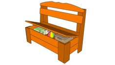 This step by step woodworking project is about outdoor storage bench plans. We show you wood storage bench building plans, along with the materials and tools needed. Garden Storage Bench, Wood Storage Bench, Outdoor Storage, Wood Bench Plans, Outdoor Furniture Plans, Pallet Furniture, Wooden Playhouse, Diy Shed, Deco