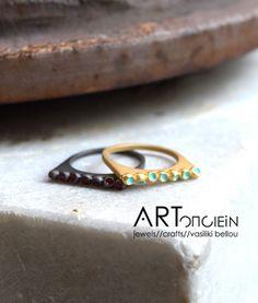 Δαχτυλίδι με σμάλτο Atelier Errikos artopoiein
