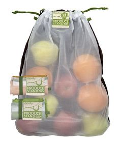 ChicoBag Green, Orange & Plum Mesh rePETe Produce Tote Set by ChicoBag #zulilyfinds