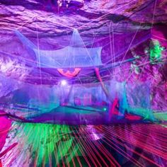 This Trampoline Park In A Cave Seriously Rocks Underground - Gigantic underground trampoline inside cave looks amazing