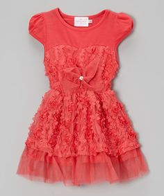 Look what I found on #zulily! Hot Pink Cap-Sleeve Dress - Toddler by Blossom Couture #zulilyfinds