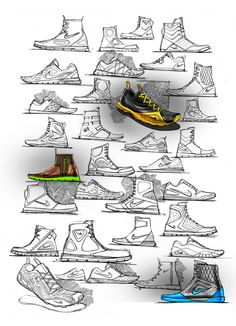 Various Footwear by Matthew Choto, via Behance