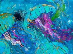 Image result for abstract underwater painting