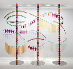 "Jean-Michel Othoniel - ""Sound Sculpture"", 2011. Blown glass, glass bangles, stainless steel, mirror polished inox. 350 x 410 x 270 cm."