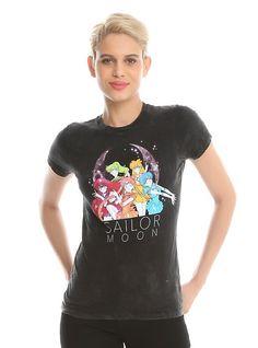 Sailor Moon Sailor Scouts Acid Wash Girls T-Shirt 59e47c668