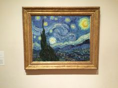 """Starry Night"" by Vincent van Gogh in MOMA - one of my favorite paintings, by Grandmother had a replica in her Family room for 40 years."