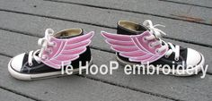 4x4 5x7 ANGEL Fairy Shoe Wings Machine Embroidery In-Hoop Design Super Hero Fantasy Steampunk Costume Percy Jackson Hermes Mercury Inspired on Etsy, $5.00