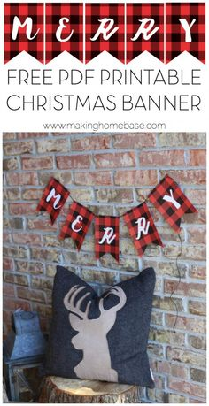 Free Printable Christmas Banner - PDF download for inexpensive festive decor