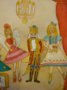 Handpainted Silk  for Christmas The Nutcracker By by thesilkmaid, $25.00