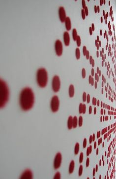 This wall treatment tells a story in braille — designed by Ilias Fotopolous. Brilliant. Read more about it on his website.
