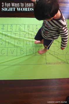 """From alphabet threading to pebbles and even a giant keyboard, practice sight words with your kid through these 3 entertaining activities! (via """"Lessons Learnt Journal"""")"""