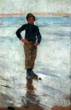 Boy On A Beach - Stanhope Alexander Forbes