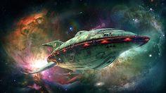 Futurama ship in 3D