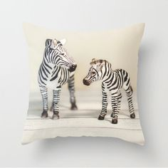 Baby Animals Zebra Velveteen Pillow Cover, Jungle Animals Zebra Mother and Baby…  -- Artist designed and produced by www.DigiColorCreations.com