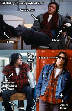 Dress up as rebellious hearthrob, John Bender from The Breakfast Club!