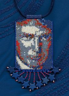 Donald Trump peyote beaded necklace